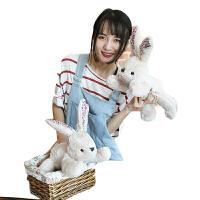 兔子毛绒玩具儿童玩偶抱枕礼物 送女友布娃娃可爱女生小白兔公仔 灰