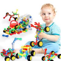 橙爱cheerbb 百变拼搭赛车 塑料拼插积木 儿童益智拼装玩具车积木 车模玩具