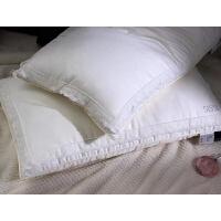 单人牛奶蛋白纤维蕾丝烫钻枕头羽丝绒低枕芯全棉低护颈枕颈椎一只L12定制 公主枕一只