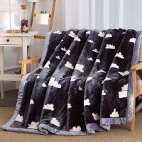 珊瑚绒毯子冬季加厚法兰绒毛毯男学生单人宿舍保暖女冬用被子双层定制