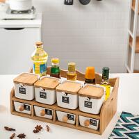 调料盒套装厨房用品玻璃调味盒调料罐佐料盒陶瓷盐罐收纳盒家用