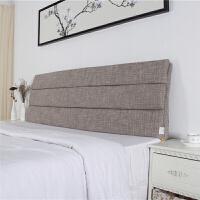 可拆洗布艺床头靠垫实木床头罩套床头软包海绵大靠垫床头靠背垫套定制