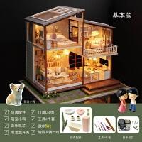 【品牌特惠】diy小屋子手工创意房子房屋模型diy大别墅阁楼玻璃高难度