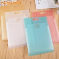 日本KOKUYO国誉淡彩曲奇竖款风琴包A4文件夹多层学生用品时尚小清新试卷夹手提收纳袋插页资料册盒可放进书包