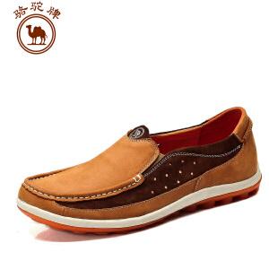 骆驼牌 春季新款 日常休闲男鞋 套脚流行男鞋子轻质舒适