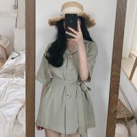 三木子快时尚女装~早春系带连体衬衫