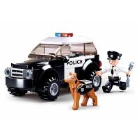 快乐小鲁班新品兼容积木拼插玩具男孩拼装积木警察suv巡逻车0639 0639-巡逻车
