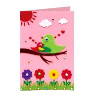 1贺卡DIY不织布手工制作材料包 幼儿园儿童立体自制教师节生日卡片1SN9739