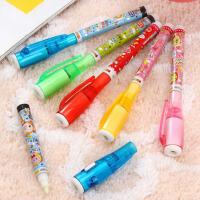 韩国文具 办公用品 电子灯笔 隐形带灯笔 颜色*(4套装 )