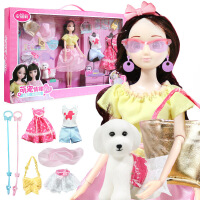 安丽莉甜美衣橱玩具 仿真换装洋娃娃套装女孩生日礼物玩具3-7岁 安丽莉换装系列