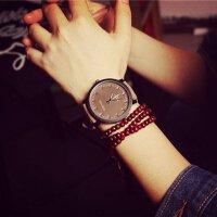 生日礼物送男女友情侣手表对表韩版磨砂皮带潮表原宿风林弯弯同款男女情侣手表潮流学生对表三八节