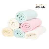 口水巾邦尼蓓妮 宝宝竹纤维方巾儿童洗脸吸水小毛巾洁面美容巾 比好
