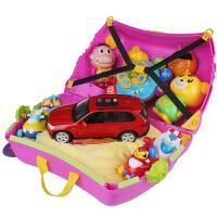 可坐可骑儿童旅行箱男宝宝骑行拖拉行李箱实用生日暑假礼物储物箱 儿童行李箱紫色