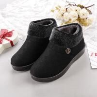 冬季新款老北京棉鞋加绒加厚中老年妈妈鞋软底奶奶鞋