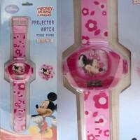 【新品】迪士尼电子表/米妮儿童电子表投影表儿童手表 89004