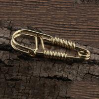 创意螺丝工艺不锈钢钥匙扣汽车男士钥匙链挂钥匙环 铜挂扣 SG-01 黄铜腰挂(赠送钥匙圈)