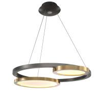 简约轻奢后现代不锈钢圆盘餐厅吊灯美式客厅卧室灯创意LED样板房吊灯