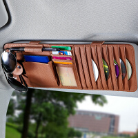 汽车cd夹遮阳板套车用多功能cd包碟片包卡片夹眼镜夹