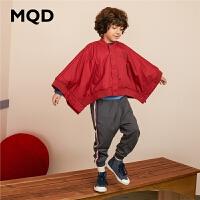 MQD男童棒球领外套中大童大蝙蝠袖上衣2019新款秋装儿童