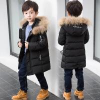 反季男童棉衣7岁男大童新款韩版潮9时尚加厚棉袄 黑色棉衣 110cm