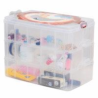 手账工具收纳盒和纸手帐贴纸少女文具杖分格箱装吧唧工具透明盒子
