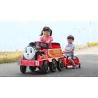 可坐人四轮童车可坐人火车喷雾双驱动宝宝儿童电动车遥控车电瓶车 动感火车红色