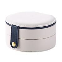 旅行便携首饰盒欧式多功能收纳盒 创意小号耳环圆形收纳盒