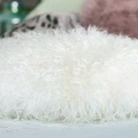 滩羊毛抱枕靠垫简约靠枕办公室腰靠背汽车腰枕沙发抱枕床头靠定制 白色