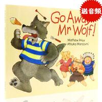 进口英文原版绘本 Go Away Mr Wolf 走开大灰狼 走开狼先生 廖彩杏有声书单 平装翻翻书 幼儿英语启蒙 g