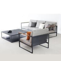 【品牌特惠】北欧简约办公沙发接待室展厅商务会客休闲布艺办公室沙发茶几组合