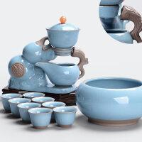 【好店】全自动茶具套装家用陶瓷简约创意懒人茶具功夫泡茶器整套