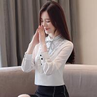 雪纺衫女春装系带打底衬衫长袖女士衬衫宽松上衣9353#