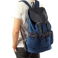 潮男大容量旅行包登山包背包男士双肩包帆布包韩版学生书包