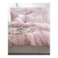 床上四件套纯棉床单被套床品全棉被子三件套2m被罩1.5米1.8m床定制 2.0m(6.6英尺) 适合220x240cm