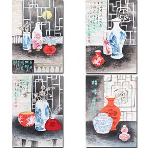 广西艺术学院毕业、广西美协会员黄永发先生四条屏作品