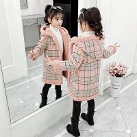 小女孩加厚洋气秋冬装童装女童外套2019秋冬季新款休闲风衣