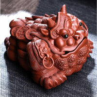 唐丰紫砂茶宠金蟾茶玩家用茶台摆件可养个性茶具配件茶道
