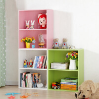 美达斯简易书柜儿童书柜书架自由组合书柜柜子 创意小学生书架收纳储物柜多规格可选