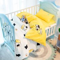 儿童纯棉被套婴儿床上用品幼儿园被子三件套午睡含芯定做宝宝床褥定制 其它