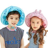 宝宝太阳帽遮阳帽潮夏季儿童帽子男女童夏季薄款小孩空顶帽