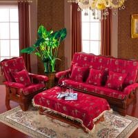 实木沙发垫四季通用中式红木加厚海绵春秋椅沙发垫带靠背套装可拆洗定制