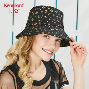 卡蒙折叠太阳帽女大帽檐户外夏天防晒帽遮阳甜美可爱休闲渔夫帽子3644
