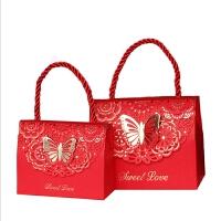 结婚用品 手提袋欧式喜糖盒50个 中式喜糖袋100个 高端婚礼回礼盒