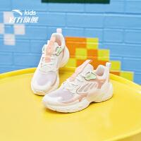 【到手价243】安踏儿童运动鞋2021夏新女童网面透气鞋蝶翼千禧休闲鞋322128877