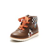 鞋柜童鞋 男童靴子短靴2018冬季加绒儿童雪-tt