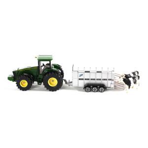 [当当自营]siku 德国仕高 1:50 约翰迪尔拖拉机带牲畜拖车 合金车模玩具 U1956