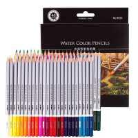 得力48色水溶性彩色铅笔 纸盒涂鸦花园填色笔彩铅画笔