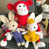 宝宝毛线长耳兔毛线玩偶娃娃钩针编织diy手工材料包情侣礼物视频