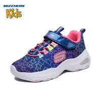 斯凯奇Skechers 冬季新款女童鞋 防滑缓震运动鞋 保暖舒适休闲鞋女80666L 黑色/浅粉色/BKLP