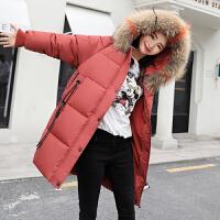 女中长款冬季学生外套羽绒2018新款韩版宽松bf棉衣